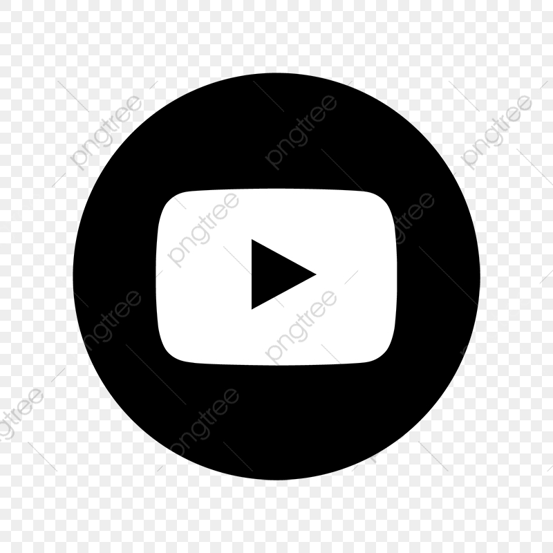 Youtube Black Amp; White Icon, Youtube, You, Tube PNG and Vector.