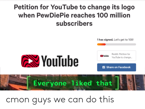 Petition for YouTube to Change Its Logo When PewDiePie.