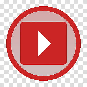 Flat minimal round icon set, youtube round transparent.