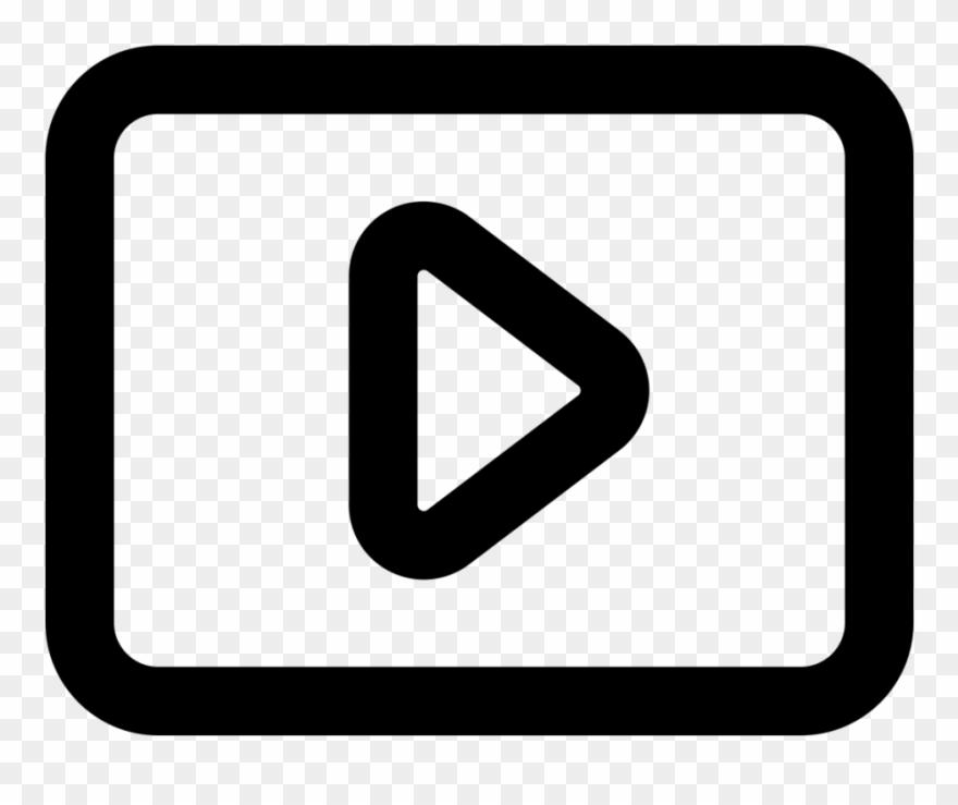 Youtube Logo Black Outline Png Clipart (#3981928).