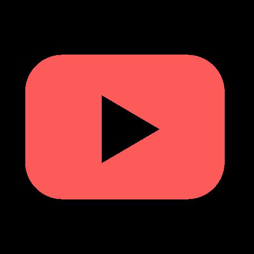 Youtube, video, social, media, play Symbol Kostenlos von Brands Flat.