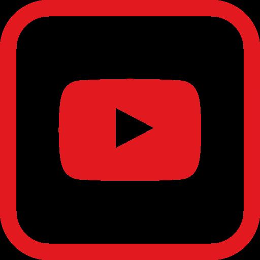 Social, media, square, youtube Free Icon of Social media.