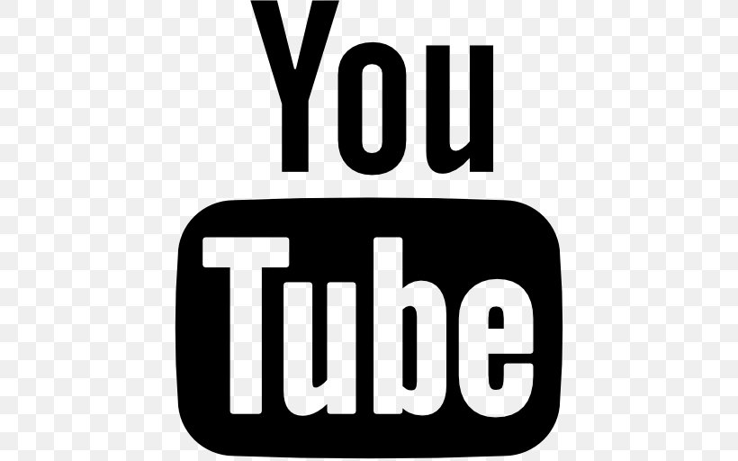 YouTube Logo, PNG, 512x512px, Youtube, Area, Black And White.