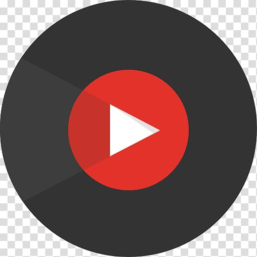 Red and black play logo, YouTube Music Android Music , song.