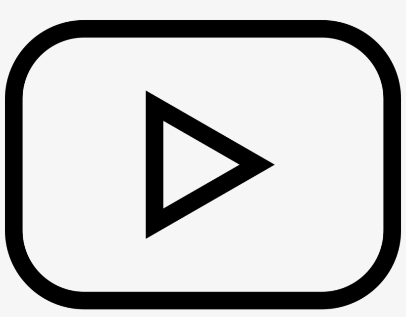 Youtube Play Button Outlined Social Symbol.