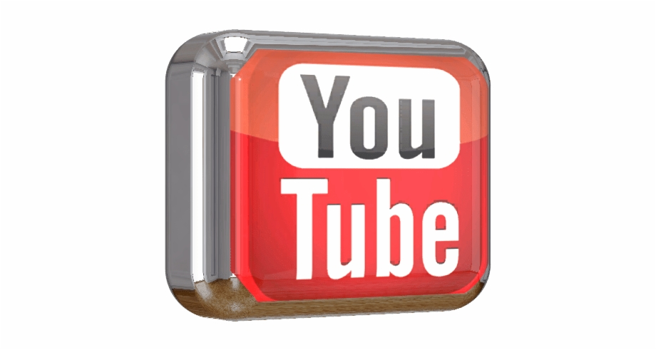 Youtube Square Shiny 3d Button Png File.