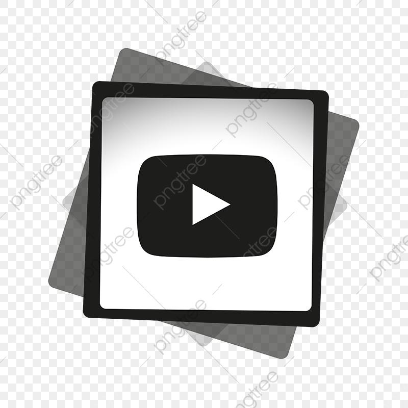 Youtube Black White Icon, Youtube Icon, Youtube Logo, Youtube PNG.