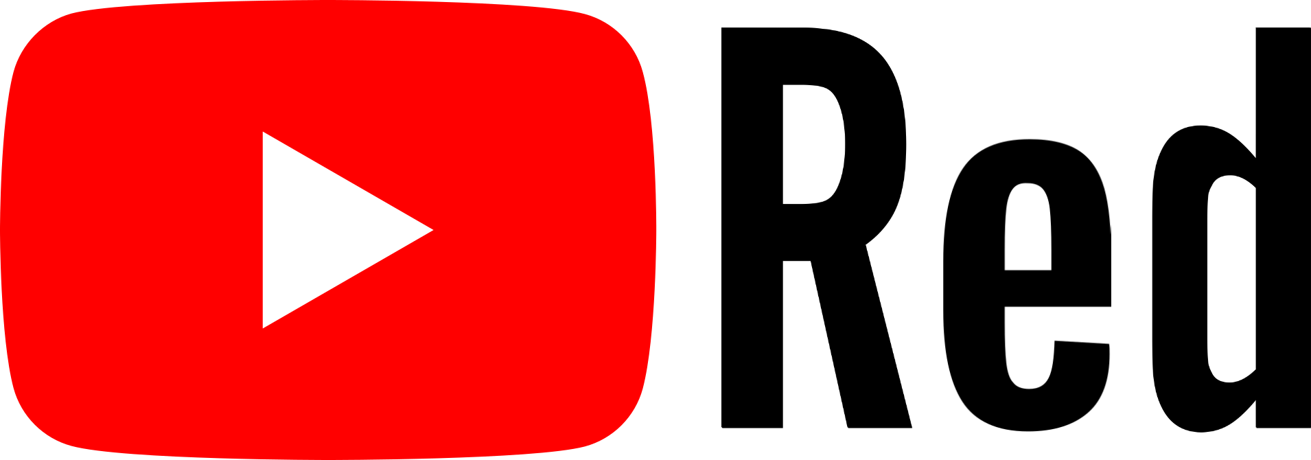 Youtube red Logos.