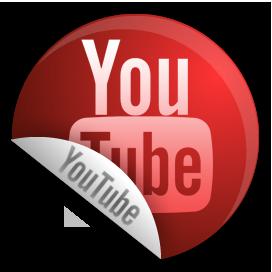 Sticker, youtube icon.
