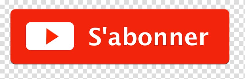 S\'Abonner logo, S\'abonner Youtube Button transparent.