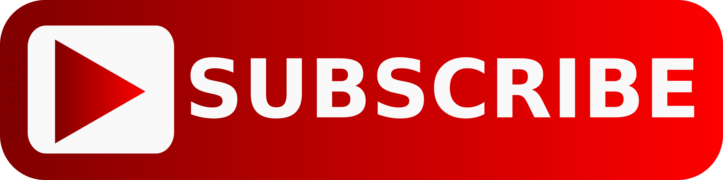 Subscribe Youtube Large Button transparent PNG.