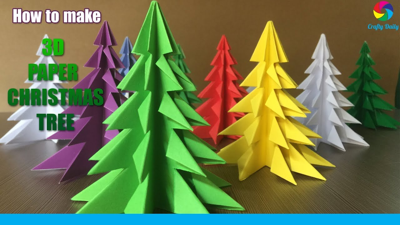 3D Paper Christmas Tree.