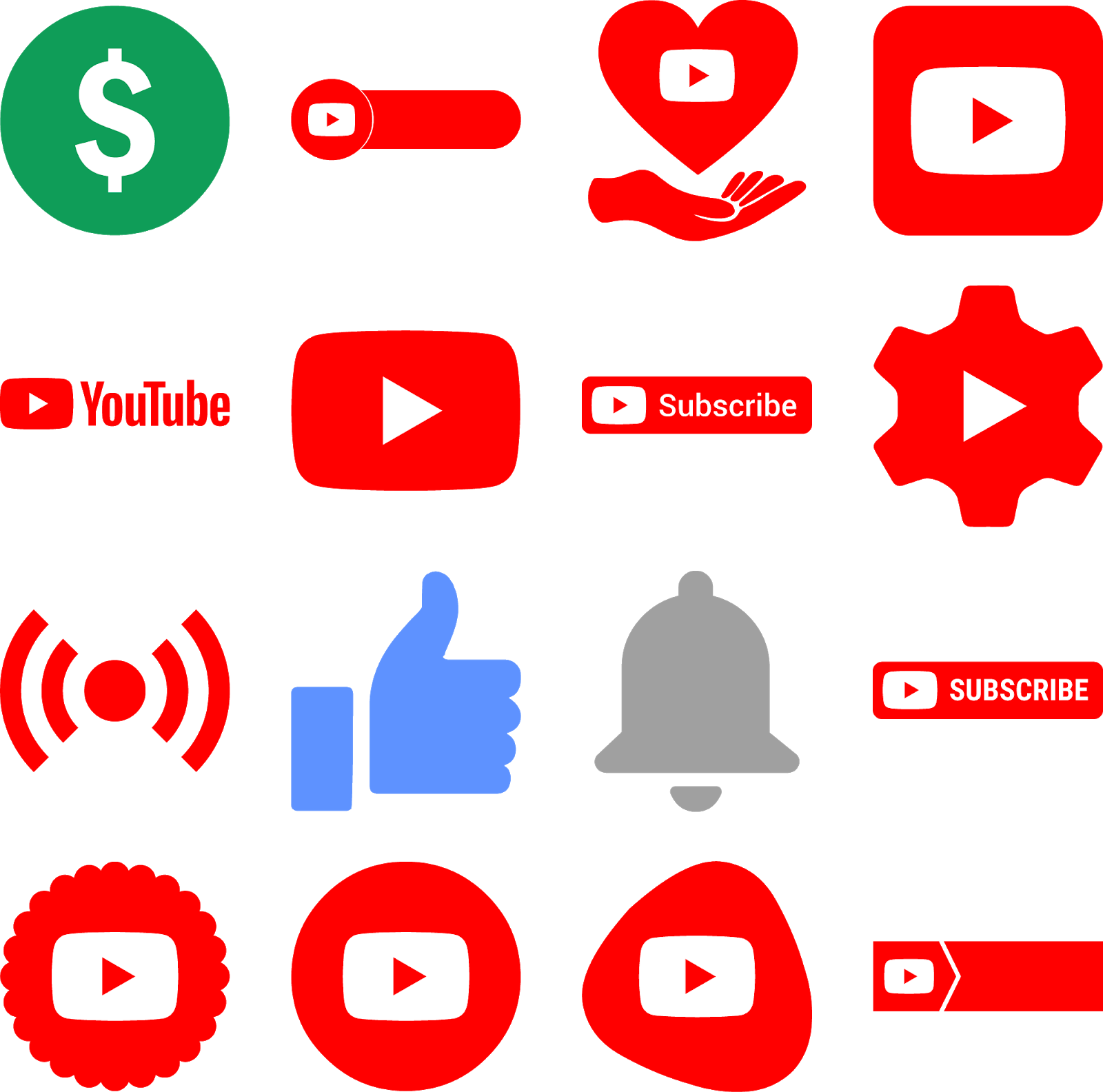 download icons logos youtube vector svg eps psd ai color.