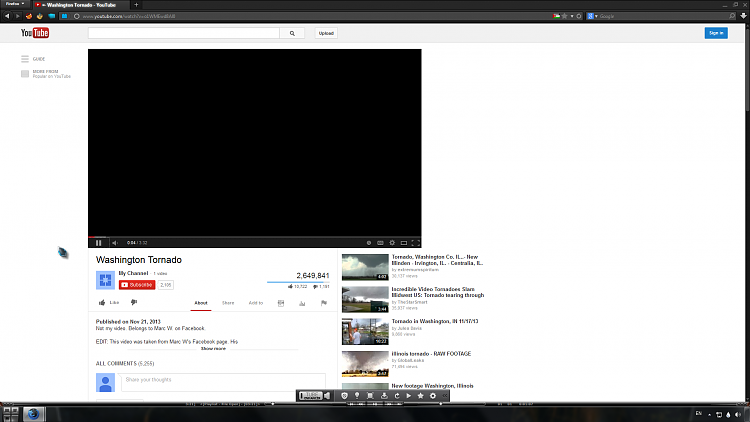 Black Screen When Playing Any Video On Youtube ? Solved.