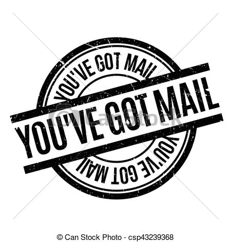 You have Got Mail rubber stamp.