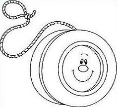 Yoyo Black And White Clipart.