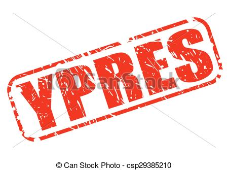 Vector Clip Art of YPRES red stamp text on white csp29385210.