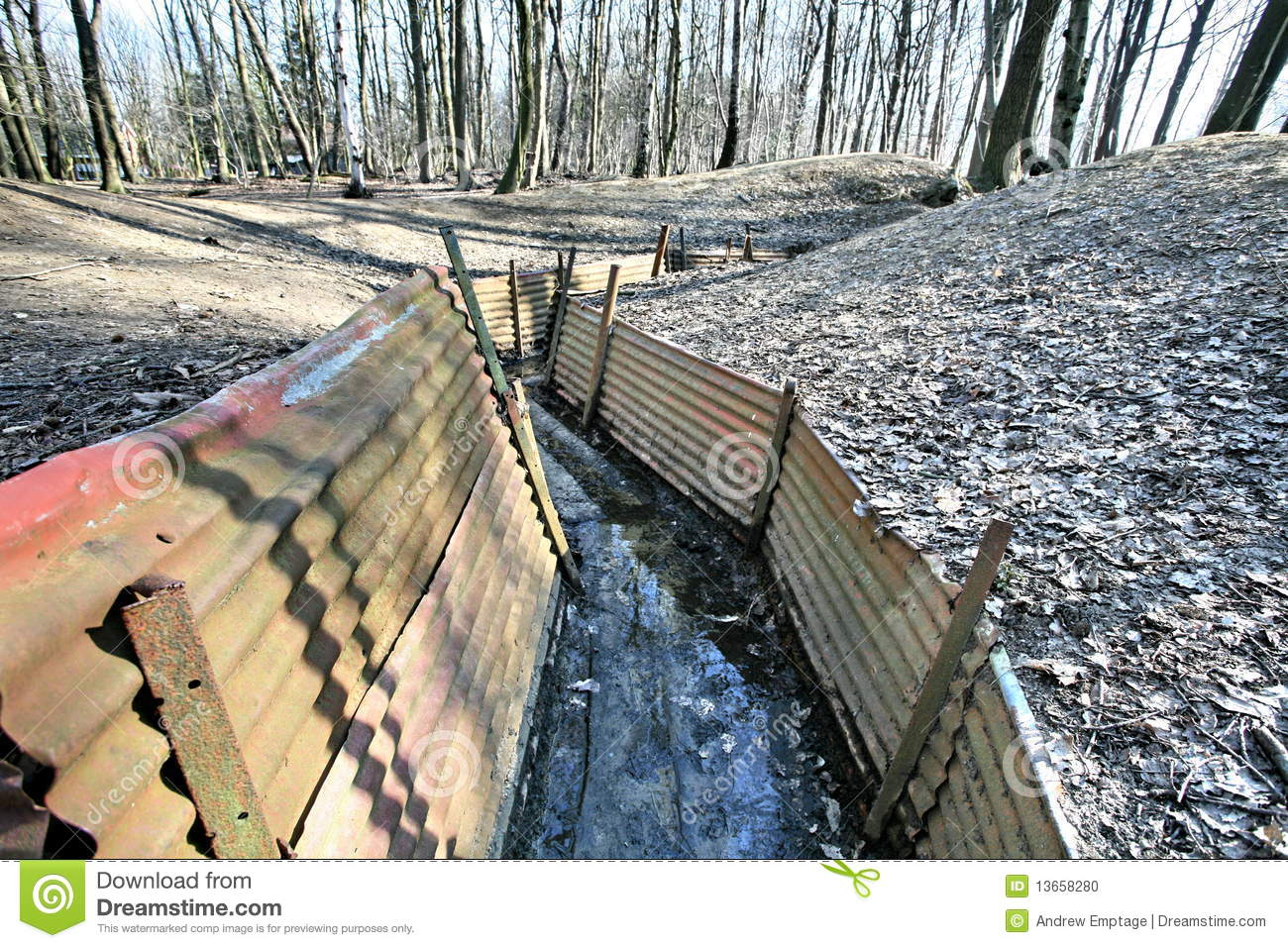 War Trenches Clipart.