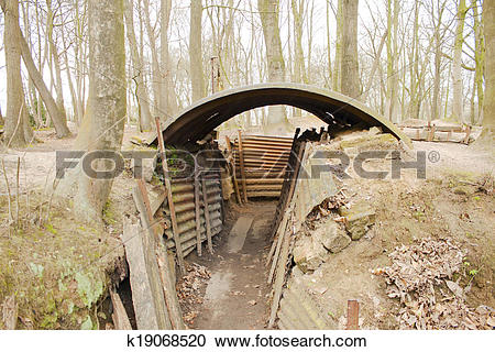 Stock Photography of Trenches Flanders Fields Ypres great world.