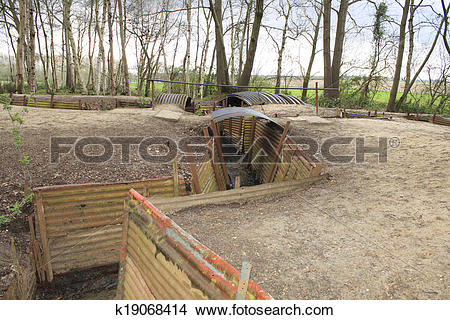 Stock Photo of Trenches Flanders Fields Ypres great world war one.