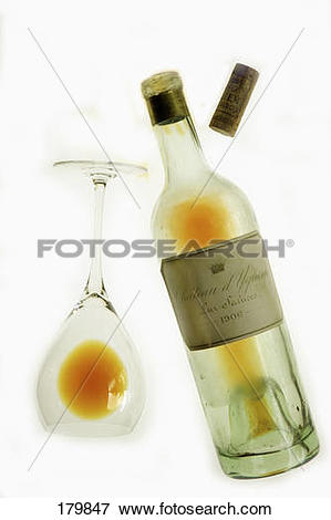 Picture of Empty glass and bottle of Lur.