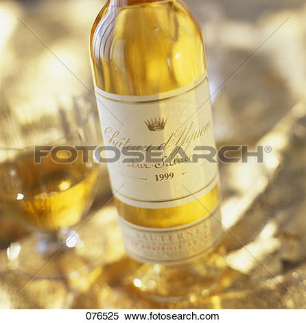 Stock Image of Bottle of Chateau Yquem wine 076525.