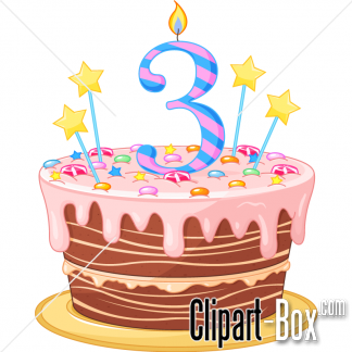 CLIPART BIRTHDAY CAKE.