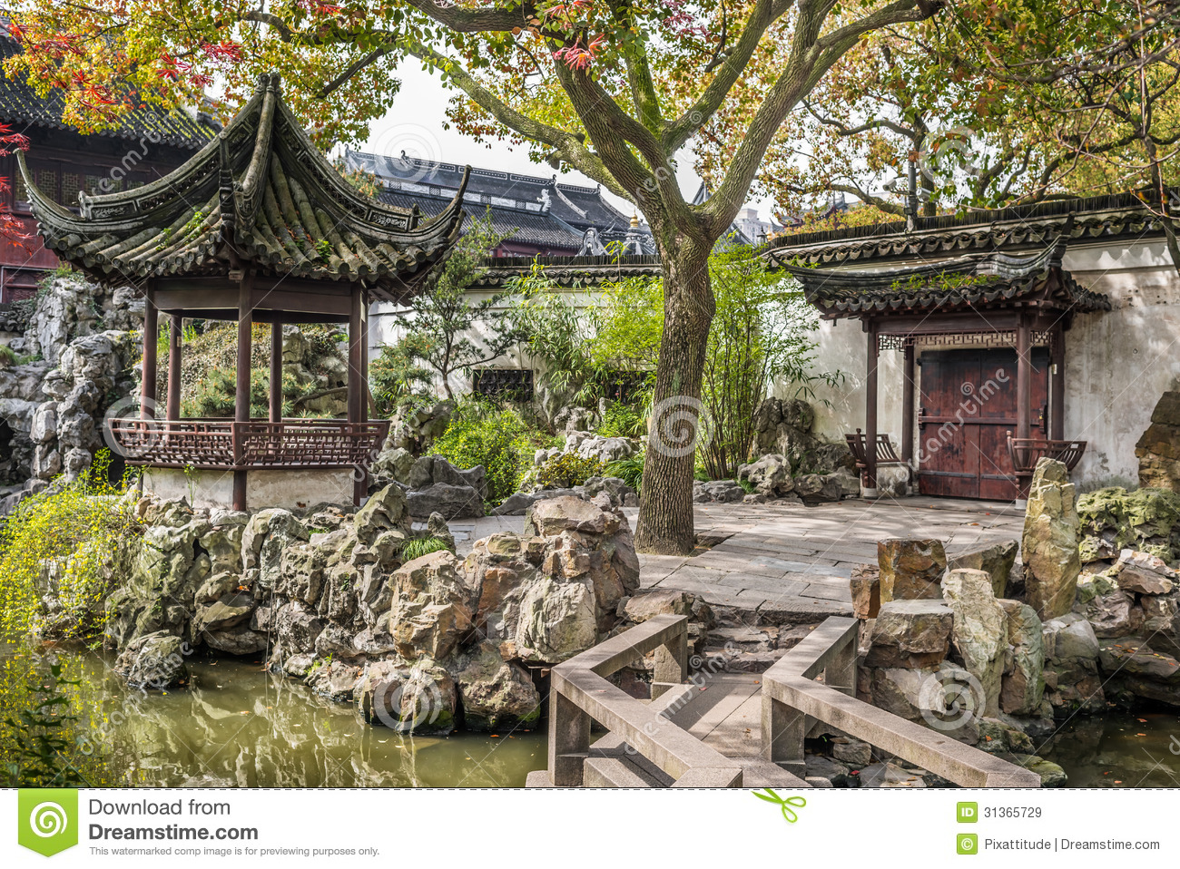 Yuyuan Garden Shanghai China Royalty Free Stock Images.
