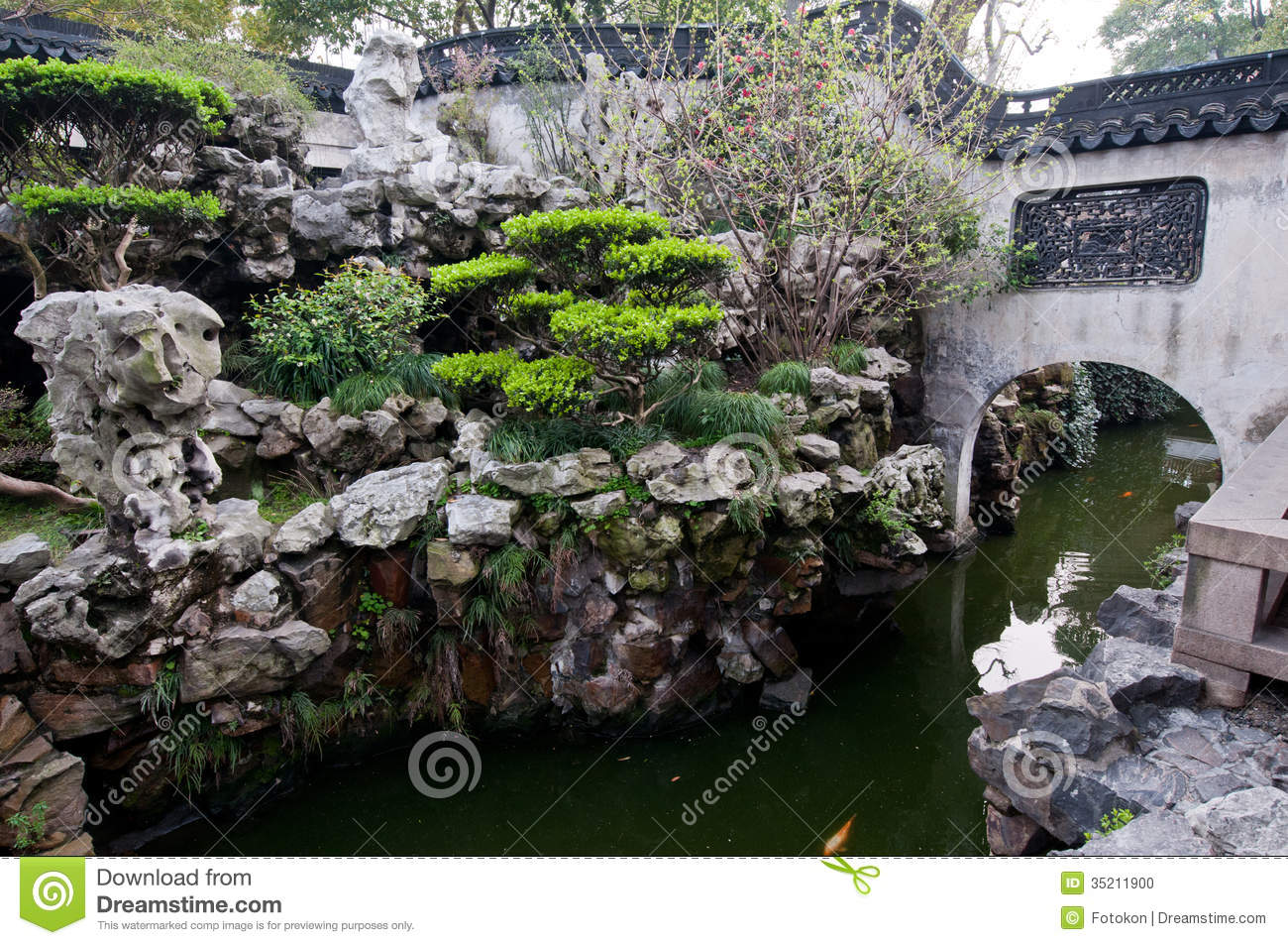 YuYuan Garden Stock Photo.