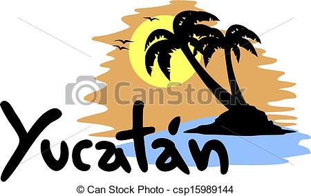 EPS Vector of Yucatan beach.