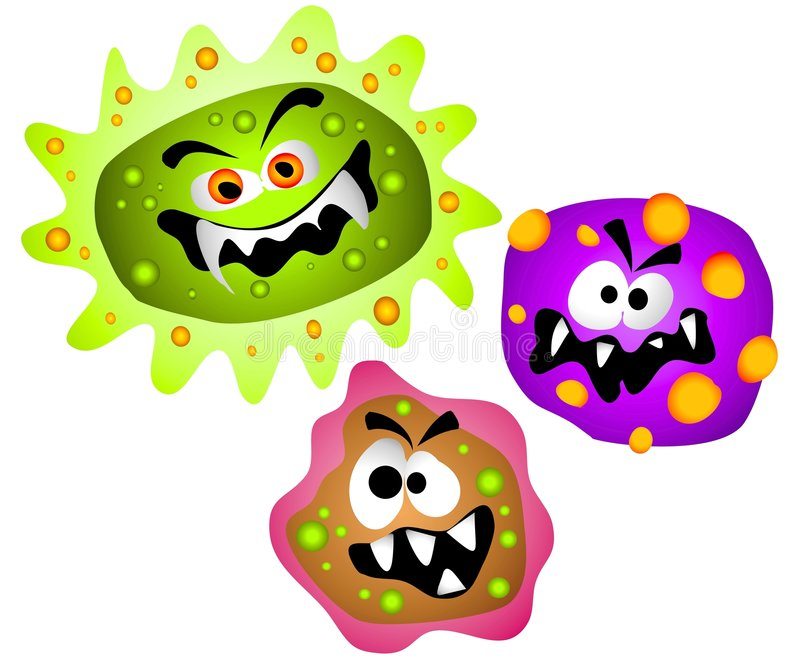 212 Germs free clipart.