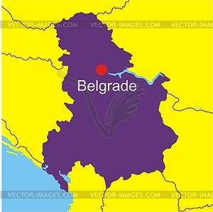 Serbia and Montenegro (Yugoslavia) map.