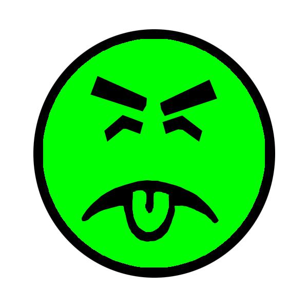 Yuck face clip art.