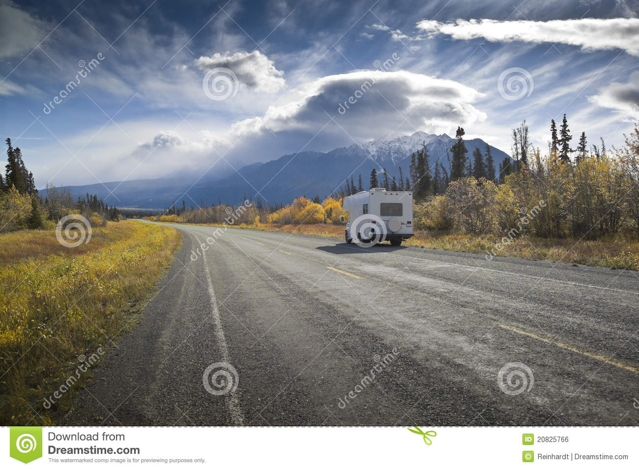 Alaska Highway Near Destruction Bay Royalty Free Stock Image.