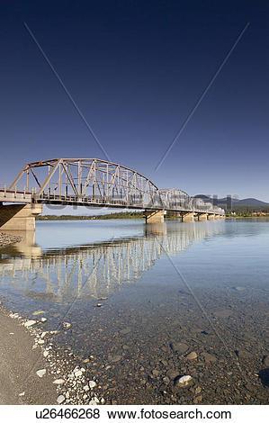 Pictures of Nisutlin Bay Bridge, Teslin, Yukon Territory, Canada.