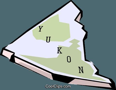 Yukon map Royalty Free Vector Clip Art illustration.