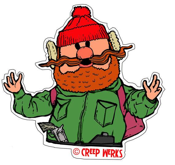 Yukon Cornelius 4 Vinyl Die Cut Sticker Christmas by CreepWerks.