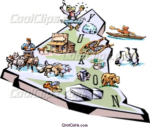 Yukon map Vector Clip art.
