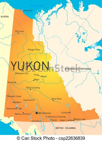 Vectors of Yukon province.