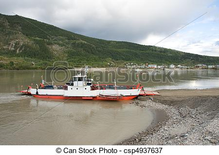 Picture of Yukon River Ferry.