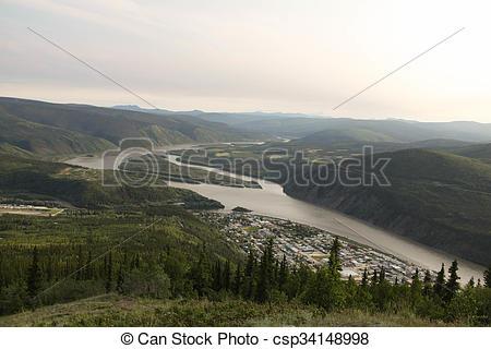 Stock Photographs of Yukon River Below Dawson City.