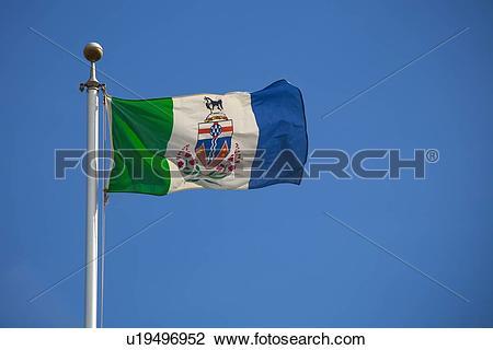 Stock Photo of yukon flag; dawson city, yukon territory, canada.