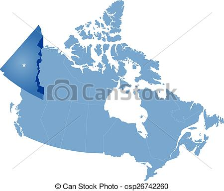 Clip Art Vector of Map of Canada.