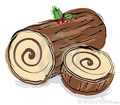 Yule log clip art.