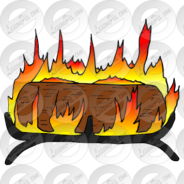 Yule Log Picture for Classroom / Therapy Use.