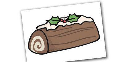 Christmas Editable A4 Yule Log.