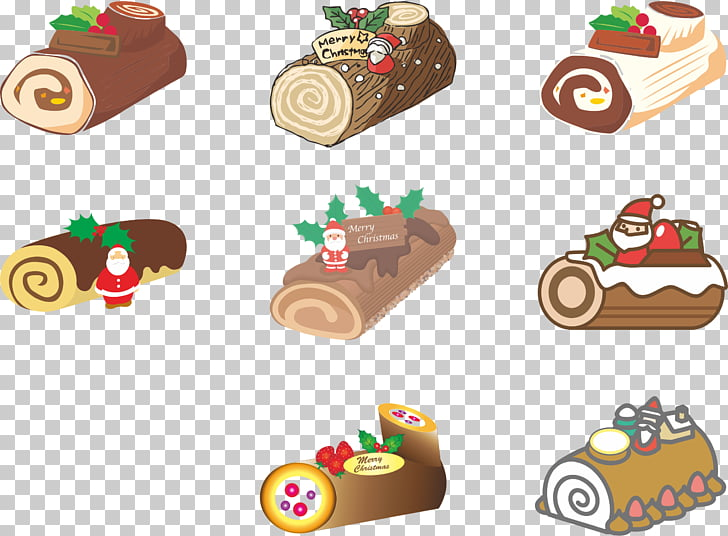 Christmas cake Yule log Swiss roll Lebkuchen , roll PNG.