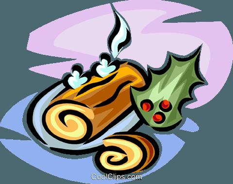 Yule log Royalty Free Vector Clip Art illustration.