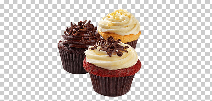 Cupcake Yummy Trio, three cupcakes PNG clipart.
