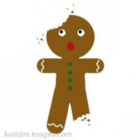 Gingerbread Man Man Walking Sunny Day Clip Art Clipart Cliparts.